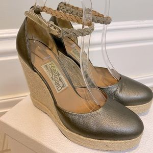 Ferragamo Espadrilles with Silver Ankle Chain